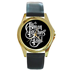 Round Gold-Tone Metal Watch : The Allman Brothers Band