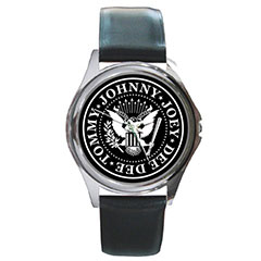 Round Silver-Tone Metal Watch : The Ramones