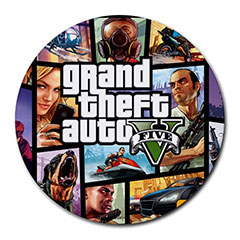 Mousepad (Round) : Grand Teft Auto V - GTA 5