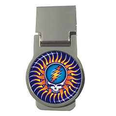 Money Clip (Round) : The Grateful Dead - Steal Your Face - Sun