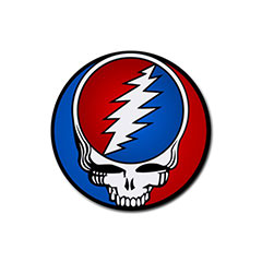 Coasters (4 Pack - Round) : The Grateful Dead - Steal Your Face