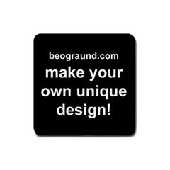 Square Rubber Coaster - Custom Design