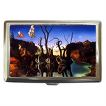 Cigarette Case : Salvador Dali - Swans Reflecting Elephants