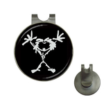 Golf Hat Clip with Ball Marker : Pearl Jam - Stickman (black-white)