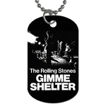 Dog Tag Necklace : Rolling Stones - Gimme Shelter