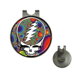 Golf Hat Clip with Ball Marker : Grateful Dead - Steal Your Face - Fractal