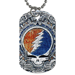 Dog Tag Necklace : Grateful Dead - Aztec - Steal Your Face