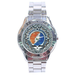 Chrome Dial Watch : Grateful Dead - Steal Your Face - Aztec