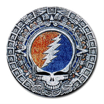 Mousepad (Round) : Grateful Dead - Aztec - Steal Your Face