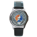 Silver-Tone Watch : Grateful Dead - Steal Your Face - Aztec