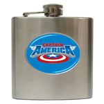 Liquor Hip Flask (6oz) : Captain America