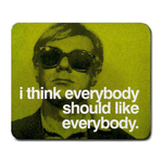Mousepad : Andy Warhol - Photo Quote (Green)