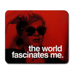 Mousepad : Andy Warhol - Photo Quote (Red)