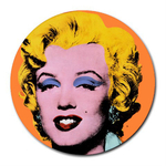 Mousepad (Round) : Marilyn Monroe by Andy Warhol (Orange)