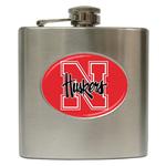Liquor Hip Flask (6oz) : Nebraska Cornhuskers
