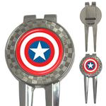 Golf Divot Repair Tool : Captain America Shield