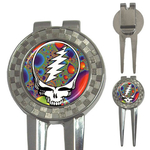 Golf Divot Repair Tool : Grateful Dead - Steal Your Face - Fractal