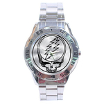Chrome Dial Watch : Grateful Dead - Steal Your Face - Chrome