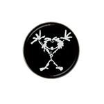 Golf Ball Marker : Pearl Jam - Stickman (black-white)