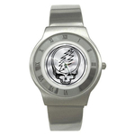 Roman Dial Watch : Grateful Dead - Steal Your Face - Chrome