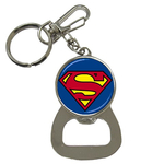 Bottle Opener Keychain : Superman Shield