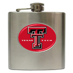Liquor Hip Flask (6oz) : Texas Tech Red Raiders