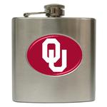 Liquor Hip Flask (6oz) : Oklahoma Sooners