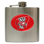 Liquor Hip Flask (6oz) : Wisconsin Badgers
