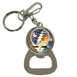 Bottle Opener Keychain : Grateful Dead - Steal Your Face - Cosmic