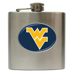 Liquor Hip Flask (6oz) : West Virginia Mountaineers