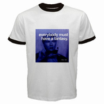 Ringer T-Shirt : Andy Warhol - Photo Quote (Dark Blue)