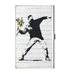 Card Holder : Banksy - Flower Bomber