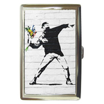 Cigarette Case : Banksy - Flower Bomber