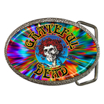 Belt Buckle : Grateful Dead - Skull & Roses (Tie-Dye)