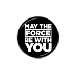 Golf Ball Marker : May The Force Be With You (black-white)