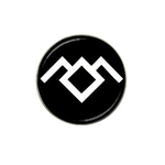 Golf Ball Marker : Twin Peaks - Owl Cave (black-white)
