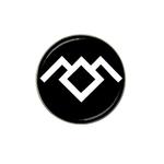Golf Ball Marker : Twin Peaks - Owl Cave (black-white)
