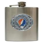 Liquor Hip Flask (6oz) : Grateful Dead - Aztec - Steal Your Face