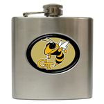 Liquor Hip Flask (6oz) : Georgia Tech Yellow Jackets