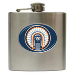Liquor Hip Flask (6oz) : Illinois Fighting Illini (blue)