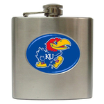 Liquor Hip Flask (6oz) : Kansas Jayhawks