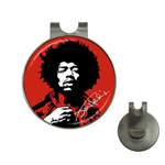 Golf Hat Clip with Ball Marker : Jimi Hendrix