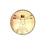Golf Ball Marker : Leonardo da Vinci - Vitruvian Man