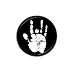 Golf Ball Marker : Jerry Garcia Handprint (black-white)