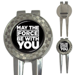 Golf Divot Repair Tool : May The Force Be With You (black-white)