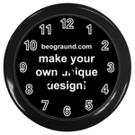 Wall Clock (black) - Custom Design