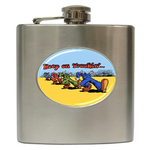 Liquor Hip Flask (6oz) : Keep On Truckin'