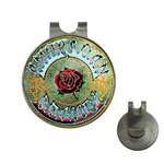 Golf Hat Clip with Ball Marker : Grateful Dead - American Beauty