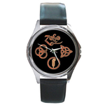 Silver-Tone Watch : Led Zeppelin Symbols