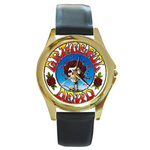 Gold-Tone Watch : Grateful Dead - Skull & Roses
